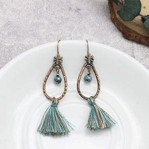 NWT Cayman Isle Brushed Gold Drop Earrings